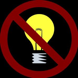 no light bulb
